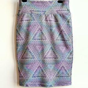 Lularoe Cassie Skirt mermaid colors tribal print!